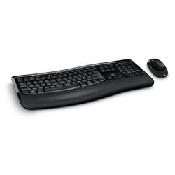 MICROSOFT WIRELESS COMFORT DESKTOP 5050 SERIES USB MOUSE & KEYBOARD - RETAIL BOX (BLACK)
