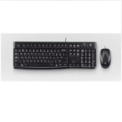 LOGITECH MK120 WIRED DESKTOP KEYBOARD AND MOUSE COMBO - 3YR WTY