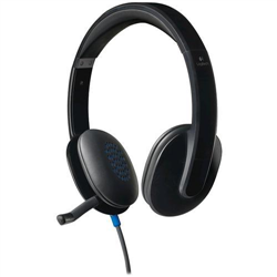 LOGITECH H540 WIRED USB STEREOHEADSET- NOISE CANCELLING MIC - 2 YR WTY