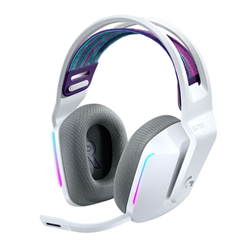 LOGITECH G733 LIGHTSPEED WIRELESS RGB GAMING HEADSET- PRO G 40MM AUDIO DRIVER- WHT-2YR WTY