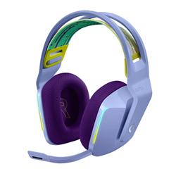 LOGITECH G733 LIGHTSPEED WIRELESS RGB GAMING HEADSET- PRO G 40MM AUDIO DRIVER-LILAC-2YR WT