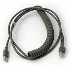 ZEBRA CABLE DATA SCANNER USB 2.8M COILED