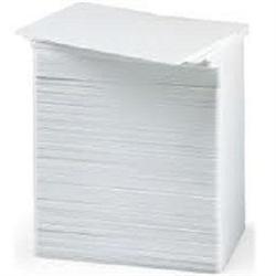 ZEBRA CARDS PVC 30 MIL PLAIN 500/BOX WHITE
