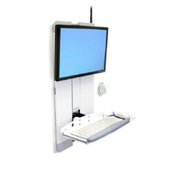 ERGOTRON STYLEVIEW VERTICAL LIFT HIGH TRAFFIC WHI