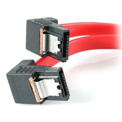 18IN RIGHT ANGLE LATCHING SATA SERIAL ATA CABLE