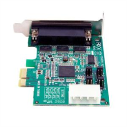 4 PORT LOW PROFILE NATIVE RS232 PCI EXPRESS SERIAL CARD WITH 16950 UART