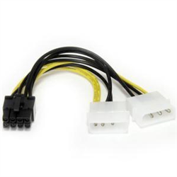 STARTECH.COM 15CM LP4 TO 8 PIN PCIE VIDEO CARD POWER CABLE ADAPTER- LTW