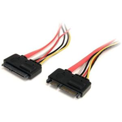 12IN 22 PIN SATA POWER AND DATA EXTENSION CABLE - 1FT SATA DATA POWER EXTENSION - 12 INCH SATA EXTENSION