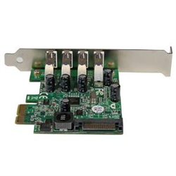 STARTECH.COM 4 PORT PCIE USB3.0 CARD- SATA POWER REQUIRED- UASP- 2YR