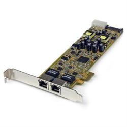 STARTECH.COM DUAL PORT GIGABIT ETHERNET PCIE NETWORK POE CARD - PSE ADAPTER 2YR