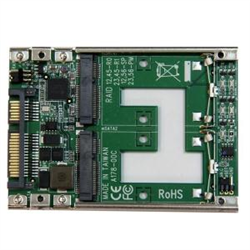 DUAL MSATA SSD TO 2.5SATA RAID ADAPTER CONVERTER - 2X MSATA SSD TO 2.5IN SATA ADAPTER WITH RAID AND 7MM OPEN FRAME HOUSING - DUAL MSATA SSD RAID CONTROLLER TO SATA ADAPTER