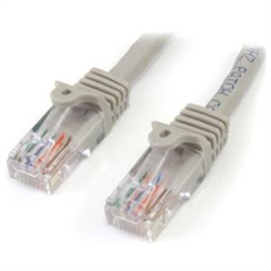 2 M GRAY CAT5E SNAGLESS RJ45 UTP PATCH CABLE - 2M PATCH CORD - ETHERNET PATCH CABLE - RJ45 MALE TO MALE CAT 5E CABLE