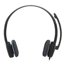 LOGITECH H151 STEREO HEADSET - WIRED- 3.5MM CONNECTION - 1YR WTY
