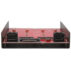 4X M.2 SATA MOUNTING ADAPTER FOR 3.5IN DRIVE BAY - 4-DRIVE NGFF TO ADAPTER ADAPTER - MOUNT FOUR M.2 NGFF SATA-BASED SSDS INTO ONE 3.5 DRIVE BAY - M2 TO SATA 6GBPS