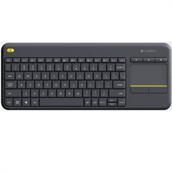LOGITECH K400 BLACK WIRELESS KEYBOARD WITH INTEGRATED TOUCH PAD UNIFYING RECEIVER -1YR WTY