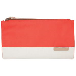 GRACE - CLUTCH BAG - SLIM - CORAL/DOVE