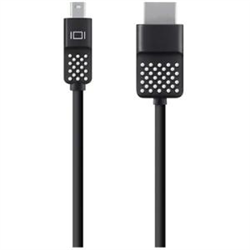 BELKIN 1.8M MINI DISPLAYPORT TO HDMI CABLE- (AUDIO AND VISUAL)- 4K- BLK- 1 YR WTY