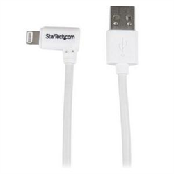 ANGLED LIGHTNING TO USB CABLE - 1 M (3 FT.) WHITE