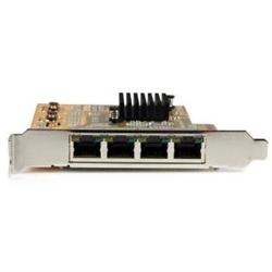 4-PORT PCI EXPRESS GIGABIT NETWORK ADAPTER CARD - QUAD-PORT GIGABIT NIC - NETWORK CARD WITH 4X 10/100/1000 RJ45 PORTS - FOUR PORT PCIE GIGABIT ETHERNET NETWORK CONVERTER CARD