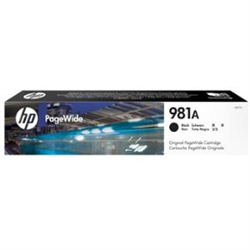 HP 981A BLACK PAGEWIDE CARTRIDGE APPROX 6K PAGES - FOR 586- 556 SERIES