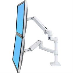LX DUAL STACKING ARM NO GROMMET MOUNT BRIGHT WHITE TEXTURE