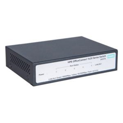 HPE 1420 5G SWITCH- 5 X GIG PORTS- FANLESS- UNMANAGED- LIFE WTY