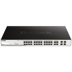 DGS-1210-28MP 28-PORT GIGABIT WEBSMART POE SWITCH WITH 24 RJ45 AND 4 SFP PORTS. POE BUDGET 370W.