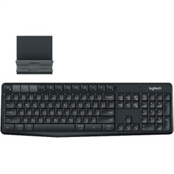 LOGITECH K375S MULTI-DEVICE WIRELESS KEYBOARD AND STAND COMBO- BLACK - 1YR WTY