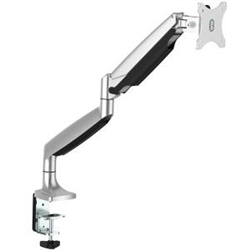 DESK MOUNT MONITOR ARM - FULL MOTION ARTICULATING - FOR VESA MOUNT MONITORS UP TO 32IN MONITOR (19.8 LB/9 KG) - HEAVY DUTY ALUMINUM - SILVER FINISH - CABLE MANAGEMENT