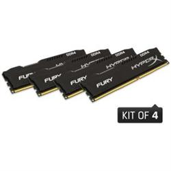 32GB 2666MHZ DDR4 CL16 DIMM (KIT OF 4) 1RX8 HYPERX FURY BLACK