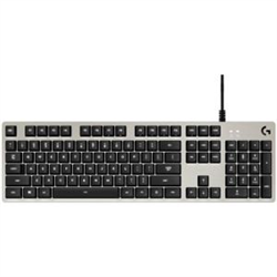 LOGITECH G413 MECHANICAL GAMING KEYBOARD- ROMER G SWITCH- GAMING KEYCAPS- SILVER - 2YR WTY