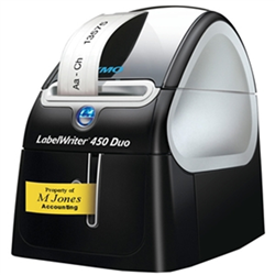 LABEL WRITER 450 DUO - PROFESSIONAL LABEL PRINETR FOR PC AND MAC WITH THE ABILITY TO PRINT CASSETTE LABELS