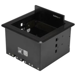 CABLE ACCESS BOX FOR CONFERENCE TABLES - TABLE TOP CABLE MANAGER FOR BOARDROOM AV CONNECTIVITY - SURFACE MOUNT BOX - HIDEAWAY PANEL - AV CABLE BOX - SURFACE MOUNT BOX