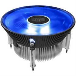 COOLERMASTER I70C- 120MM BLUE LED ALUMINUM COOLER- SUPPORT INTEL LGA1156/1155/1151/1150