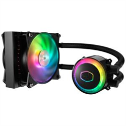 COOLERMASTER MASTERLIQUID ML120R 120MM ADDRESSABLE RGB CPU COOLER- DUAL CHAMBERS WATER BLO