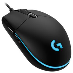 LOGITECH G PRO WIRED GAMING MOUSE- LIGHT SYNC RGB- 16K HERO SENSOR- BUTTONS(6)- 2YR WTY