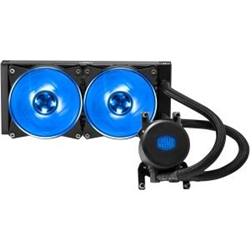 COOLER MASTER MASTERLIQUID ML240 RGB (TR4 ONLY)- RGB DUAL CHAMBERS DESIGN WATER BLOCK- 2X1