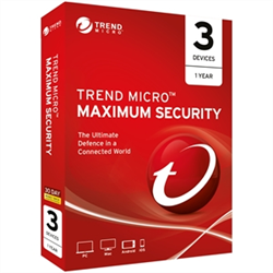 TREND MICRO MAXIMUM SECURITY (1-3 DEVICES) 12MTH