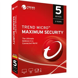 TREND MICRO MAXIMUM SECURITY (1-5 DEVICES) 24MTH