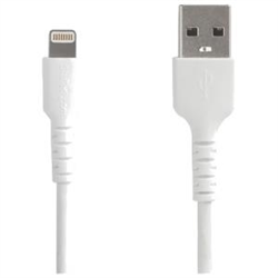 STARTECH.COM 2M USB-A TO LIGHTNING CHARGE/SYNC CABLE- DURABLE- MFI- WHITE- 2YR