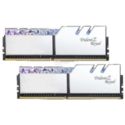 TZ ROYAL 16G KIT (2X 8G) DDR4 3200MHZ PC4-25600 14-14-14-34 1.35V DIMM SILVER COLOUR