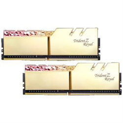 TZ ROYAL 16G KIT (2X 8G) DDR4 3600MHZ PC4-28800 18-22-22-24 1.35V DIMM GOLD COLOUR