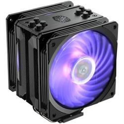 COOLERMASTER HYPER 212 RGB BLACK EDITION- GUN-METAL BLACK WITH BRUSHED ALUMINUM SURFACE