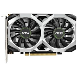 NVIDIA GEFORCE GTX 1650 VENTUS XS 4G OC GRAPHIC CARD CORE CLOCKS 1740MHZ 1XDP 1X HDMI 2.0 1X DVI 350W MIN PSU G-SYNC READY UP TO 3 MONITORS 3 YEARS WARRANTY