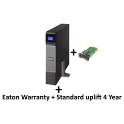 EATON 5PX 2200VA/1980W 2U RACK/TOWER UPS + WARRANTY+ STANDARD UPLIFT 4 YEAR: 5 SERI + GIGABIT NETWORK CARD
