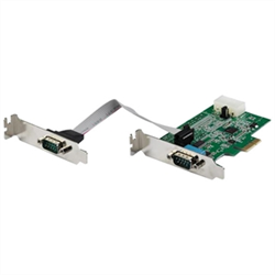 2 PORT RS232 SERIAL ADAPTER CARD WITH 16950 UART - PCI EXPRESS SERIAL PORT CARD - 921.4KBPS - WINDOWS & LINUX COMPATIBLE