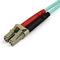 7 M OM4 LC TO LC MULTIMODE DUPLEX FIBER OPTIC PATCH CABLE - AQUA - 50/125 - FIBER OPTIC CABLE - 40/100GB - LSZH (450FBLCLC7)