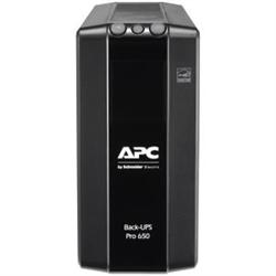 APC (BR650MI) BACK-UPS PRO (BR)- 650VA- IEC(6)- AVR- LCD MONITORING- 2YR WTY