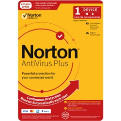 NORTON ANTI-VIRUS PLUS 2GB AU 1U 1D 12MONTH ATTACH ENR DVDSLV. NOTE: CREDIT CARD OR PAYPAL ACCOUNT REQUIRED FOR ACTIVATION AND USE.