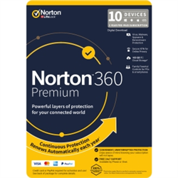 NORTON 360 PREMIUM 100GB AU 1U 10D 12MONTH ENR DVDSLV. NOTE: CREDIT CARD OR PAYPAL ACCOUNT REQUIRED FOR ACTIVATION AND USE.